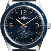 Bell & Ross Steel 43mm Automatic BRV123-BLU-ST/SCA new