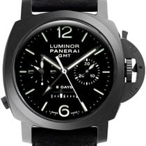 Panerai Luminor 1950 8 Days Chrono Monopulsante GMT Ceramic 44mm Black Arabic numerals