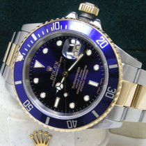Rolex Submariner Date Boxes Papers Blue Dial Bezel SS/18kt Gold