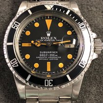 """Rolex Vintage Rolex Submariner 1680 Steel Matte Black """"pumpkin..."""