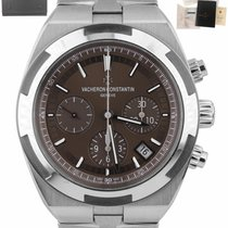 Vacheron Constantin Steel Automatic Brown 41mm pre-owned Overseas Chronograph