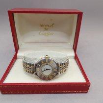 Cartier 21 Must de Cartier Gold/Steel 28mm White