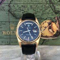 Rolex Day-Date 36 Gelbgold 36mm Schwarz Keine Ziffern