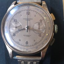 Chronographe Suisse Cie Or jaune 39mm Remontage manuel occasion