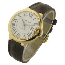 Cartier W6900456 Ballon Bleu in Rose Gold - on Brown Strap...