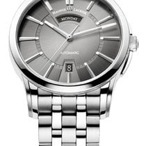 Maurice Lacroix Pontos Day/Date Grey Dial Silver Index, Steel...