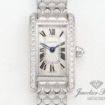 Cartier Tank Americaine WB710013 Weissgold 750 Diamanten