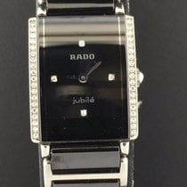 Rado Integral 22.5mm Ladies Black Diamond Dial Black Ceramic...
