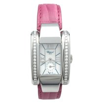 """Chopard Stainless steel Chopard """"Strada"""" watch on a leather..."""