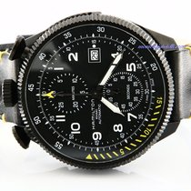 Hamilton Chronographe 46mm Remontage automatique 2018 nouveau Khaki Aviation Noir