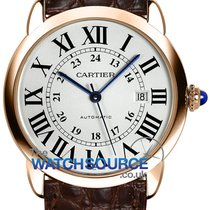 Cartier Ronde Solo de Cartier Rose gold 42mm Silver Roman numerals