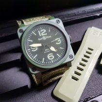 Bell & Ross 42mm Automatic 2015 pre-owned BR 03-92 Ceramic Green