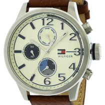 Tommy Hilfiger Casual Sport Leather Chronograph Mens Watch