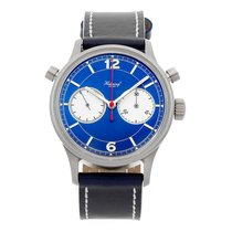 Habring² Chronograph 42mm Manual winding pre-owned Blue