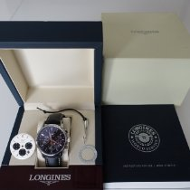 Longines Column-Wheel Chronograph pre-owned 40mm Black Chronograph Date Leather