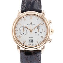 Blancpain Villeret pre-owned 38mm Silver Date Leather