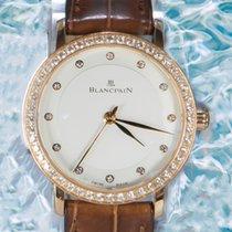 Blancpain Villeret Ultra-Slim 6104 2987 55A Muy bueno Oro rojo 29.2mm Automático