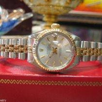 Rolex Lady-Datejust Złoto/Stal 26mm Srebrny Bez cyfr
