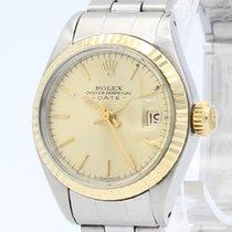 Rolex Lady-Datejust Zlato/Ocel 26mm Šampaňská barva Bez čísel