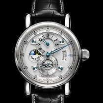 Chronoswiss Acier 41mm Remontage automatique Chronoswiss Flying Regulator Night and Day nouveau