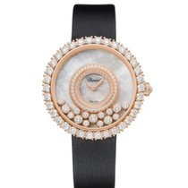 Chopard Rose gold Quartz new Happy Diamonds