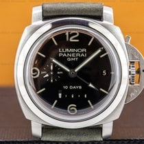 Panerai Luminor 1950 10 Days GMT Steel 44mm Black Arabic numerals United States of America, Massachusetts, Boston
