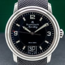 Blancpain Steel 40mm Black Arabic numerals