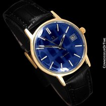 Omega 1973 Geneve Vintage Mens Watch, Quick-Setting Date - 18K...