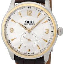 Oris Artelier Manual Wind Steel & Gold Mens Strap Watch...