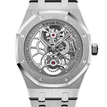 Audemars Piguet Royal Oak Tourbillon Steel 41mm Transparent UAE, Gold and Diamond Park Bulding #5 Dubai