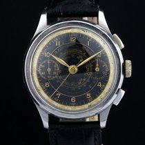 Cyma Chronograph 35mm Manual winding 1940 pre-owned White
