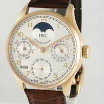 IWC Portuguese Perpetual Calendar pre-owned 41mm Red gold