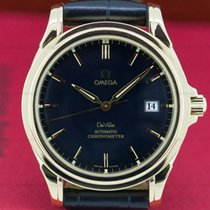 Omega 4631.80.00 De Ville Co-Axial 18K Yellow Gold Black Dial...