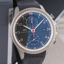 IWC Titanium Automatic Grey Arabic numerals 45mm pre-owned Portuguese Yacht Club Chronograph