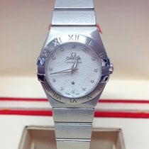 Omega Constellation Quartz Staal 24mm Parelmoer