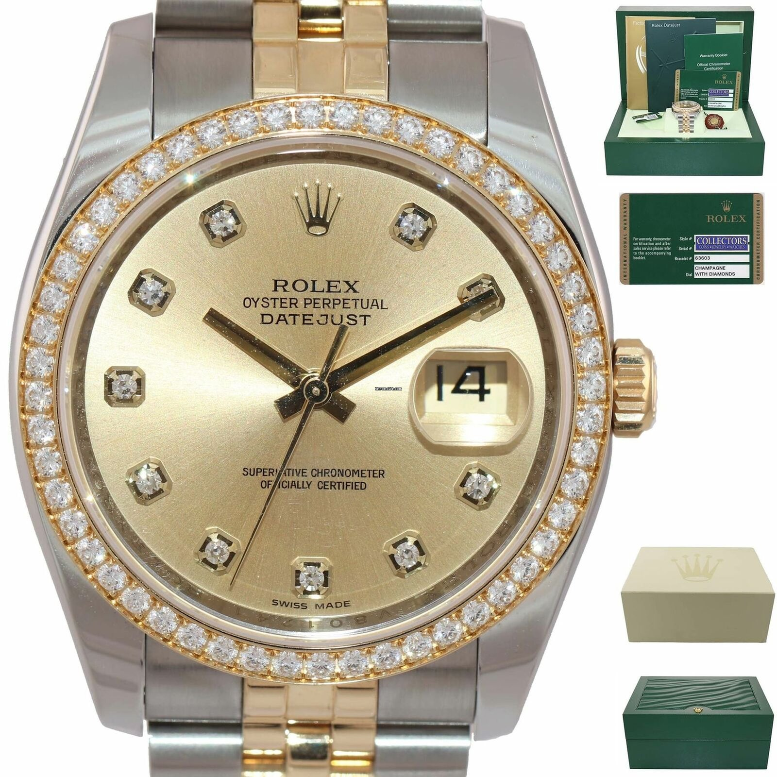 6054613e5ef Rolex FACTORY DIAMONDS Rolex Date Just Super Jubilee 116243... à vendre  pour 11.177 € par un Trusted Seller sur Chrono24