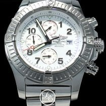 Breitling Super Avenger pre-owned 48mm White Chronograph Date Steel