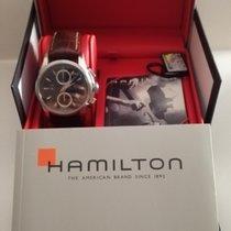 Hamilton Jazzmaster Auto Chrono Staal Zwart Geen cijfers