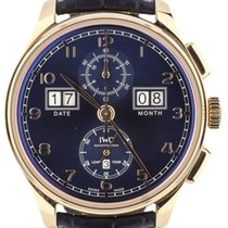 IWC Portuguese Perpetual Calendar Digital Date-Month Rose gold 45mm Blue