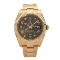 Rolex Sky-Dweller Rose gold 42mm Brown No numerals United Kingdom, Liverpool