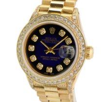 Rolex Lady-Datejust Żółte złoto 26mm Złoty Bez cyfr
