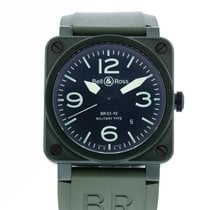 Bell & Ross Ceramic Automatic Black 42mm pre-owned BR 03-92 Ceramic