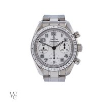 Omega Speedmaster Ladies Chronograph occasion 38mm Blanc Chronographe Date Acier