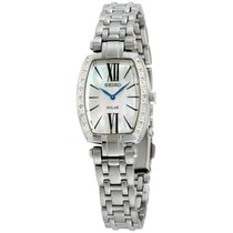 Seiko Solar Steel 28mm Mother of pearl Roman numerals United States of America, New York, Brooklyn