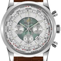 Breitling Transocean Chronograph Unitime Steel 46mm White No numerals United States of America, New Jersey, Princeton