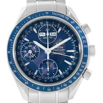 Omega Speedmaster Date Blue Dial Chronograph Watch 3212.80.00...