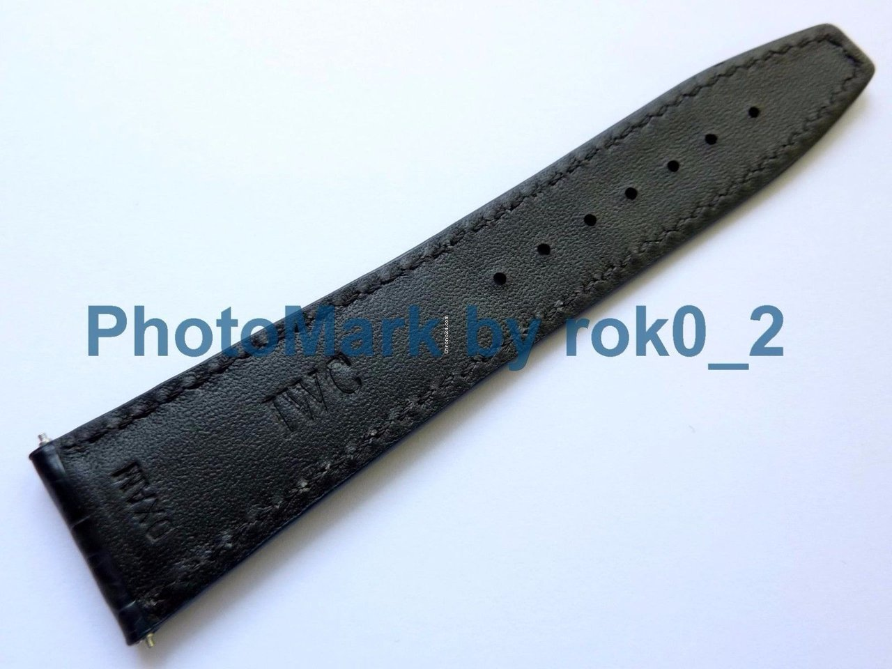 e188d1866 IWC Midnight Blue Alligator Crocodile Watch Strap Band 22mm for $285 for  sale from a Trusted Seller on Chrono24