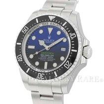 롤렉스 Sea-Dweller Deepsea 스틸 44mm 파란색 숫자없음