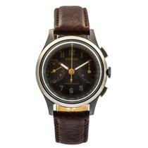 Angelus Chronograph 35mm Handaufzug gebraucht Schwarz