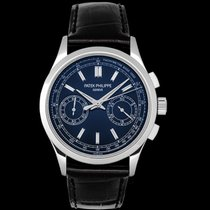 Patek Philippe Platinum Manual winding Blue 39.4mm new Chronograph
